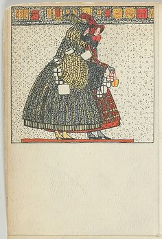 'The Month of December' (1912) by Fritzi Löw (1891—1975). Published by    Wiener Werkstätte.Image and text courtesy The Metropolitan Museum of Art.