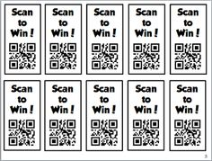 Scan to win reward tickets (pass out to students making good choice, on task, listening, working quietly, etc... and they scan to see what they win!)