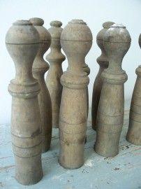 Oude houten kegeltjes SOLD   sold   sjebbiez