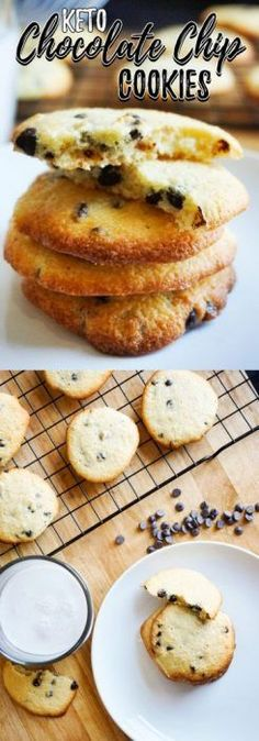 These Low Carb Chocolate Chip Cookies are the perfect combination of crisp and soft and will become a new household staple! These Low Carb Chocolate Chip Cookies are the perfect combination of crisp and soft and will become a new household staple! Keto Cookies, Low Carb Chocolate Chip Cookies, Keto Chocolate Chips, Almond Cookies, Pumpkin Cookies, Healthy Cookies, Shortbread Cookies, Sugar Cookies, Ketogenic Desserts
