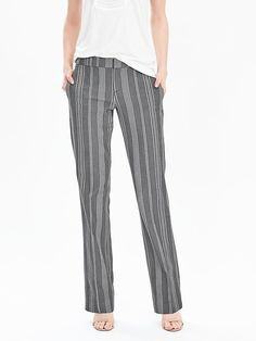 Stripe Cotton Trouser