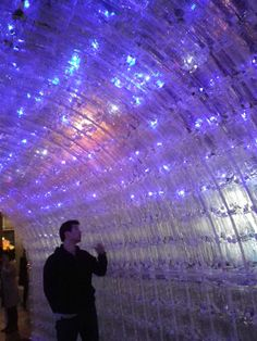 Christmas illuminations made of recycled plastic bottles