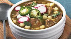 Slow-Cooker Posole Verde Recipe - BettyCrocker.com