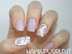 #pastel #soft #pink #white #vintage #romantic #rose #nails