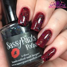 """Polish and Paws: """"Bad Witch"""" glitter topper by Sassy Pants Polish The Wizard of Oz Collection ~ Holiday 2015"""