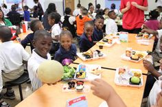 This one could read:  Learning about healthy eating at Charles Rice Learning Center, Dallas Independent School District, April 2015, Photo Credit:  American Heart Association