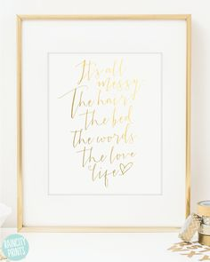Decor inspirational art print typographic art wall art girl baby