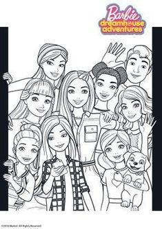 Family Coloring Pages, Coloring Book Art, Doodle Coloring, Cool Coloring Pages, Barbie Coloring Pages, Disney Coloring Pages, Barbie Colouring, Coloring For Kids Free, Ladybug Coloring Page