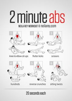 2 Minute Abs Workout [ SkinnyFoxDetox.com ] #fitness #skinny #health
