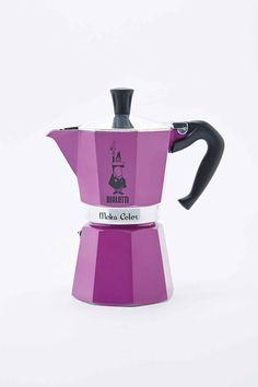 Bialetti Moka Express Hob Espresso Maker in Violet