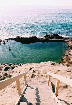 stairs leading down to beach in laguna beach california / sfgirlbybay