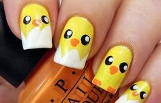 Flaunting animal themed nail art shows your wild side and it also depicts your love towards the animals or your pets. Check out these colorful animal print nail art! Easter Nail Designs, Easter Nail Art, Toe Nail Designs, Gel Designs, Diy Nails, Manicure, Nail Polishes, Yellow Nails Design, Nagellack Design