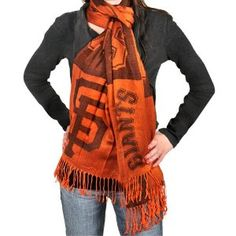 MLB San Francisco Giants Ladies 27'' x 78'' Scarf - Black/Orange $24.95