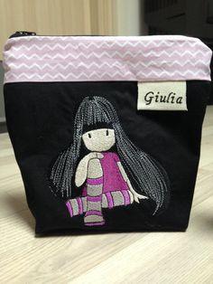 Custom cotton clutch bag CosediCuore #italiasmartteam #etsy