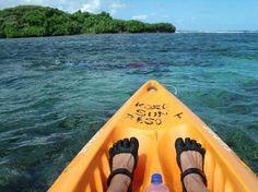 Koro Sun Resort: Kayaking, snorkeling, near Bat Island