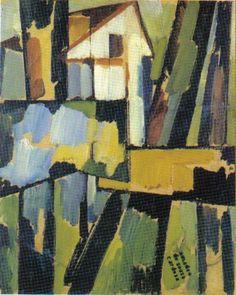 Basque Landscape, 1914 by Amadeo de Souza-Cardoso. Abstract Painters, Abstract Art, Art Story, Famous Art, Art Database, Gustav Klimt, Paint Designs, Les Oeuvres, Art Museum
