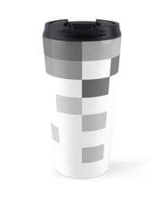 BUY ANY 2 & GET 15% OFF --- Gray Scale In Pixels Coffee Mug by ARTbyJWP (by-jwp) in Redbubble #redbubble #artbyjwp #mug #coffeemug #mugs #minimalist #pixels #gray #white #travelmug