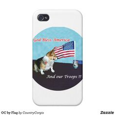 OC by Flag iPhone 4 Cover Corgi Phone Case, Iphone 4, Iphone Cases, Business Supplies, Diy Face Mask, Plastic Case, Gifts For Dad, Your Design, Oc
