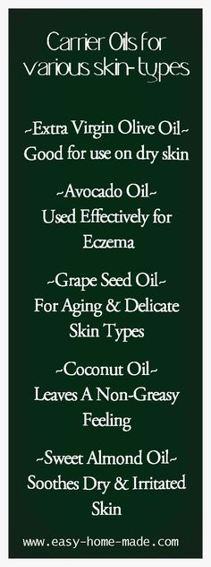 Learn about the health benefits for various carrier oils!