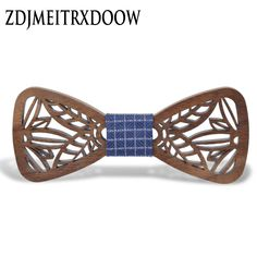 Hollow Wood Bow Ties for Men & Women