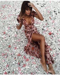 @naila in the Saffron Maxi Dress