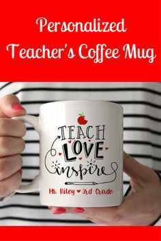 This would be such a cute back-to-school gift! Teacher Gifts Personalized Teacher Gift Kindergarten Teacher Gift Teacher Mug Teacher Coffee Mug Preschool Teacher Gifts New Teacher Gift (sponsored)
