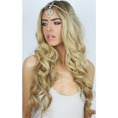 LullaBellz Gracie 3 Way Summer Statement Headpiece Hair Jewellery ($46) ❤ liked on Polyvore featuring accessories, hair accessories, hair, models and metallic