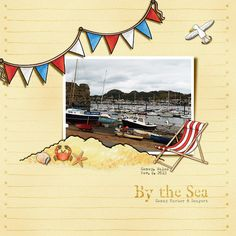 By the Sea (Inspiration Chall) digital scrapbook layout by Christa