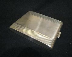 1910s sterling silver cigarette case german card case business credit card holder 925 silver - Silver Business Card Holder