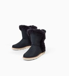Image 4 of FAUX FUR ANKLE BOOTS from Zara