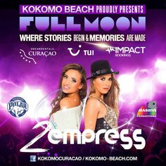 Full Moon Party with 2Empress at Kokomo Beach Curacao