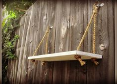 Nautical Rope Swing Shelf