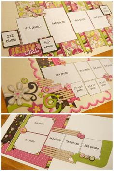 Scrapbook layout page kit by Allison Davis for Scrapbook Generation