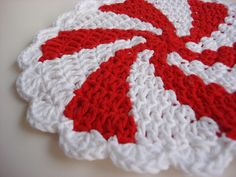 Peppermint Twist Pot Holder | Flickr - Photo Sharing!