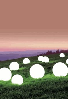 Glowing orbs- this would be awesome outside with our bonfire