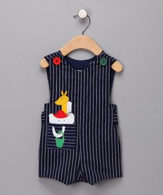 Take a look at this Royal Stripe Animal Shortalls - Toddler by C.I. Castro & Jayne Copeland on #zulily today!