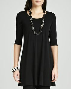 Viscose+Jersey+Tunic,+Women\'s++by+Eileen+Fisher+at+Neiman+Marcus.