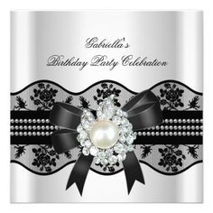 White Black Lace Pearl Elegant Birthday Party Custom Invitations today price drop and special promotion. Get The best buyDiscount Deals          White Black Lace Pearl Elegant Birthday Party Custom Invitations Online Secure Check out Quick and Easy...