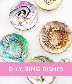 D.I.Y. Ring Dishes  This is amazing I just tried it and it worked out really good