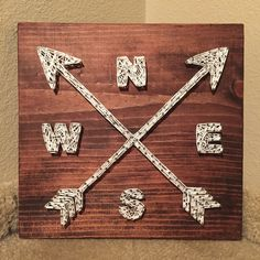 MADE TO ORDER - Compass & Arrows String Art