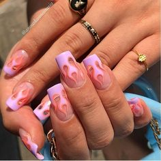 Semi-permanent varnish, false nails, patches: which manicure to choose? - My Nails Summer Acrylic Nails, Best Acrylic Nails, Simple Acrylic Nails, Acrylic Nail Designs, Aycrlic Nails, Swag Nails, Manicure, Grunge Nails, Nagel Hacks