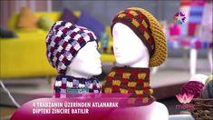 ✿ ❤ Tülin İriş - kısa, saçaklı yelek ve boyunluk örülüşü (star tv - melek programı) 30 EKIM 2014