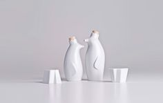Conj. Galheteiro Pinguim Rei - Móveis e objetos de design assinado - Entrega em todo o Brasil