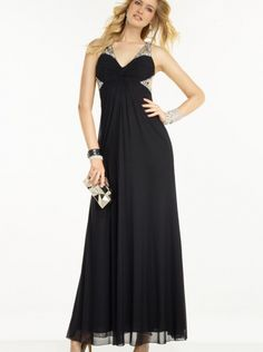 8aa3a253bd The Alyce Paris B Dazzle 35775 prom dress is highlighted with crystal  beaded cutout straps