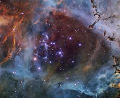 Astronomy Picture of the Day for 11 Mar 2014. In the heart of the Rosette Nebula lies a bright open cluster of stars that lights up the nebula.