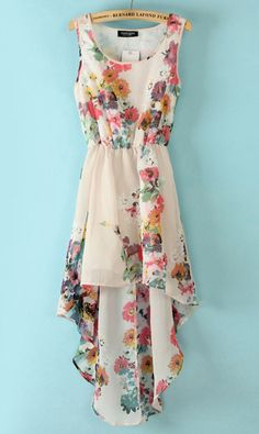 Floral sleeveless dress WQZ9489