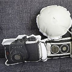 Vintage Camera Couch Pillows ($45) from Etsy.