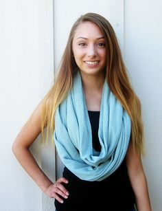 Mint Infinity Scarf Womens Scarf Circle by DiscoLemonadeDesigns, $19.99