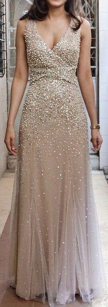 Charming Prom Dress,Beaded Prom Dress,Maxi Prom Dress,Fashion Prom