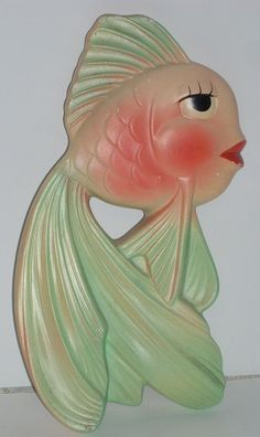 Original pinner sez: Miller Studio Chalkware Vintage Kitsch Fish Wall by diantiques.  When I was a little girl, I was scared to death of the fish that were on our bathroom wall.  Hated them!  Now I think they are kind of cute!